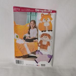Simplicity 8278 Kid's Animal Rag Quilt Pattern